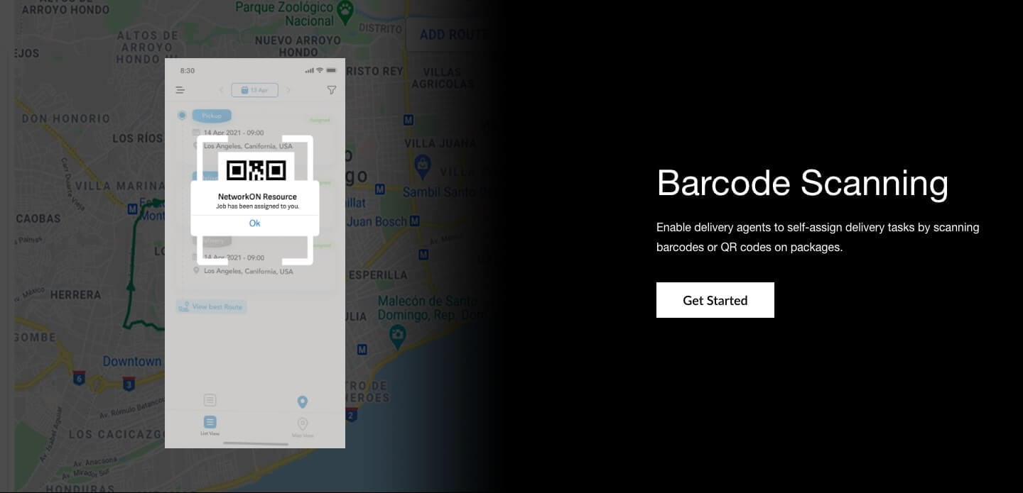 Our Barcode scanning feature enables courier drivers to make a record of task completion and proof of delivery.