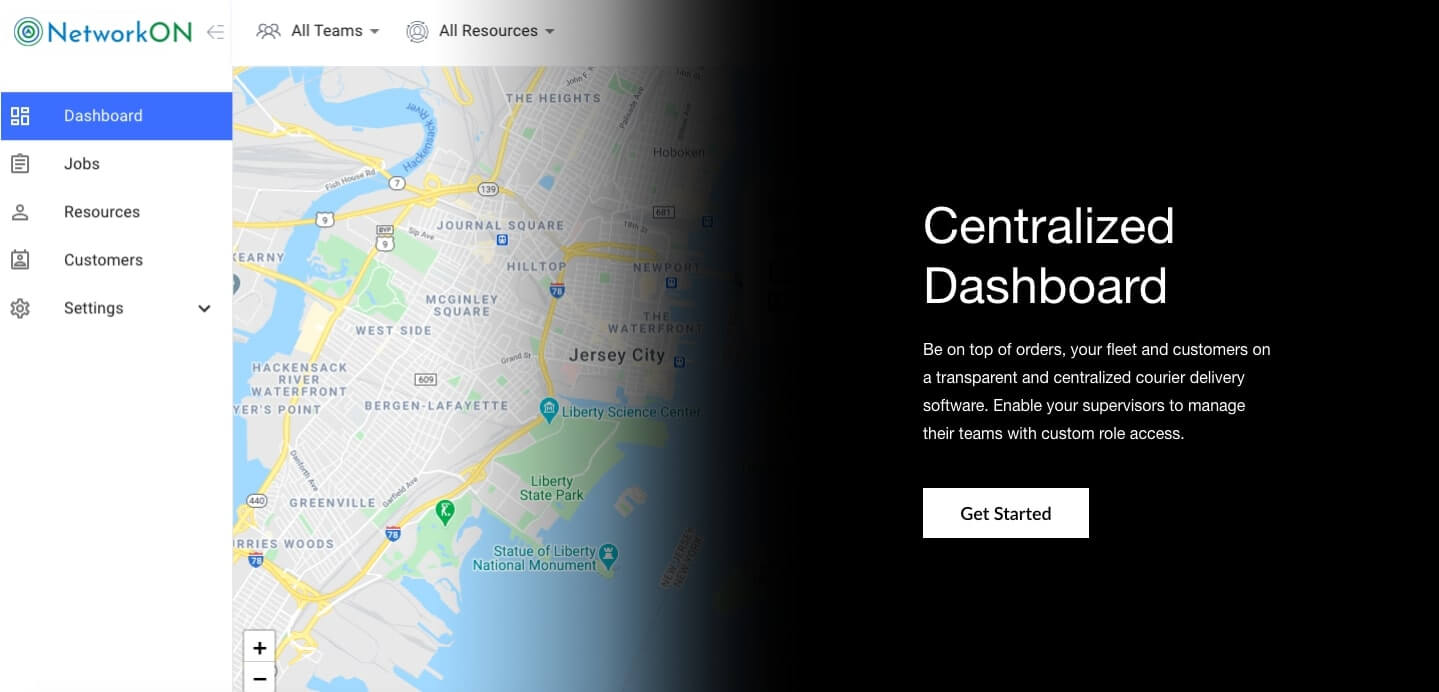 Courier Service Tracking Software - Track couriers in real time with a centralized dashboard that features route optimization and geofencing
