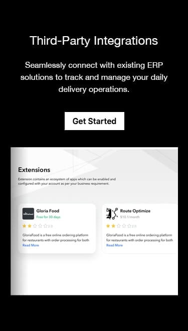 Seamlessly connect with third-party partners to manage your daily delivery operations.