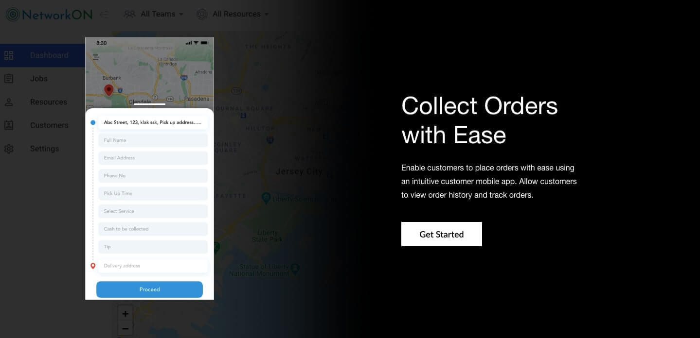 On-demand furniture delivery app - Collect orders from customers using an intuitive customer app. Allow customers to track orders and view order history.