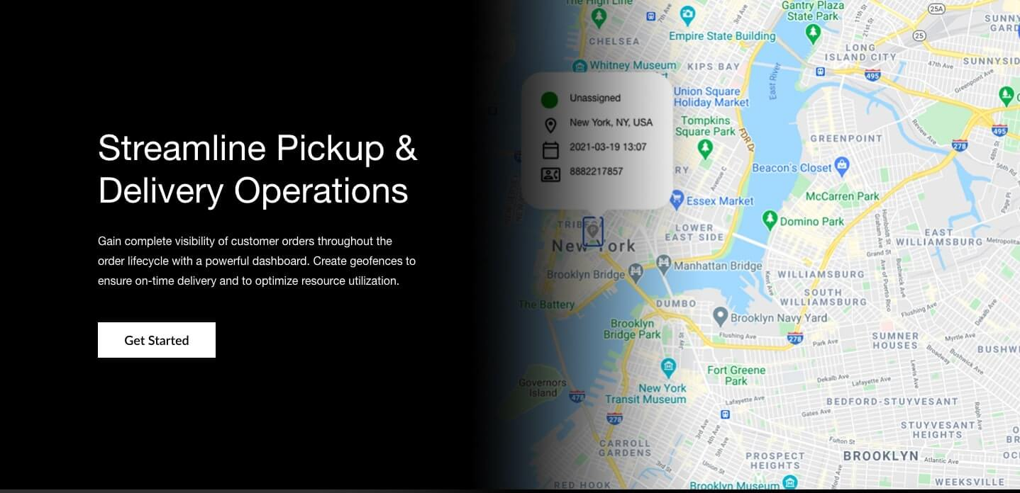Flowers and gifts Delivery Management Software - Get a bird's eye view of customers, order status, and your delivery fleet.