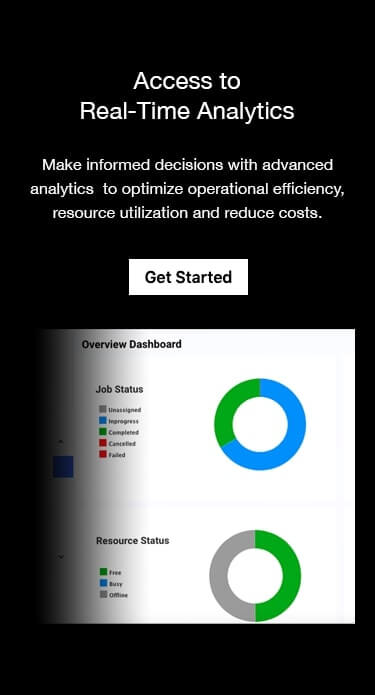 Laundry pickup and delivery software - Make informed decisions with advanced analytics to optimize operational efficiency, resource utilization and reduce costs.
